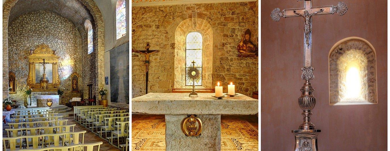 Photos HDR des églises de Roquefort, Opio, Le Rouret et Chateauneuf