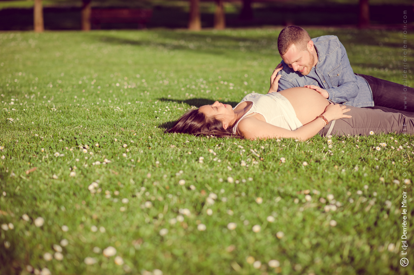 Photographe de grossesse 06 loeilderrierelemiroir